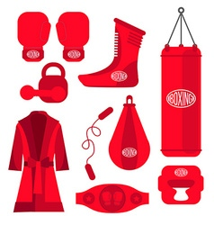 Boxing design elements fighting and boxing vector