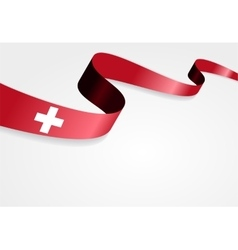 Swiss flag background vector