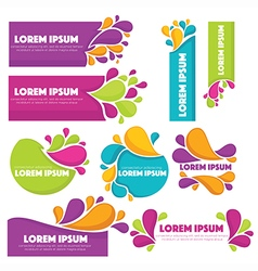 bright labels vector image