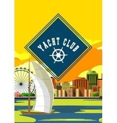 Yacht club flyer vector