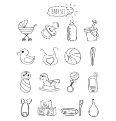 A family-friendly hotel of icons and elements set vector