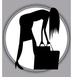 A hard days shopping vector