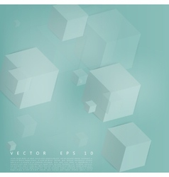 Abstract geometric shape from gray cubes vector image vector image