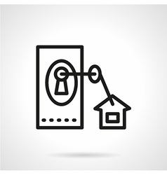 Black line icon for housing vector image
