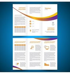 brochure folder leaflet color yellow line vector image vector image