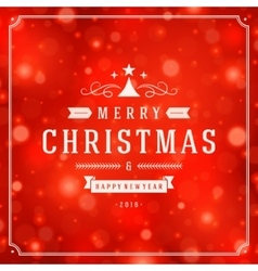 Christmas greeting card light and snowflakes vector image vector image