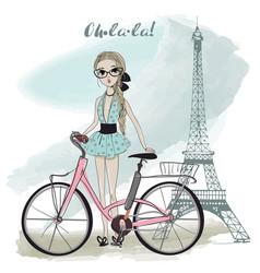 cute summer girl vector image vector image