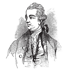 Edward gibbon vintage vector