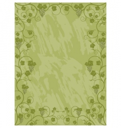 floral frame with a vine vector image vector image