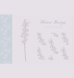 Flower design art brush and pattern vector