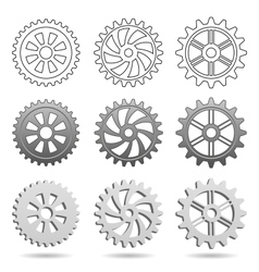 Gear wheels vector image vector image