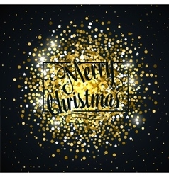Gold glitter christmas background design vector image vector image