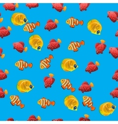 Golden butterflyfish pattern vector