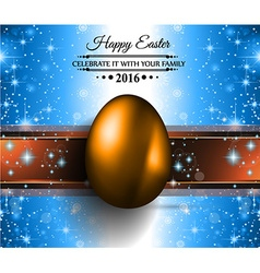 Happy Easter Background with a Colorful Egg with vector image vector image