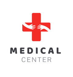 medical center logo template creative design vector image