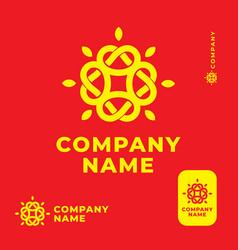 Modern ethno folk knot shine logo identity brand vector