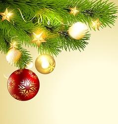 shiny christmas ball vector image vector image