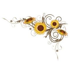 Sunflowers summer vector