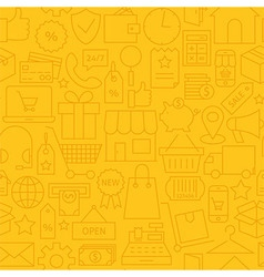 Thin shopping business line commerce yellow vector