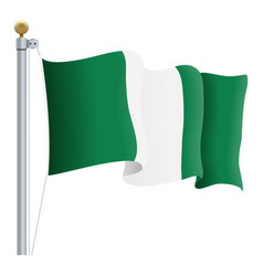Waving nigeria flag isolated on a white background vector