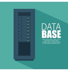 data server computer storage with shadow icon vector image