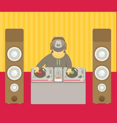 Dj character music musical entertainment flat vector