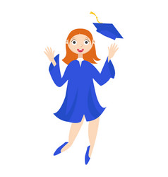 A graduate with a diploma vector