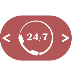 All-day customer support call-center flat icon vector