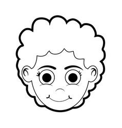 Isolated girl cartoon design vector