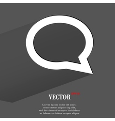 Cloud thoughts flat modern web button with long vector
