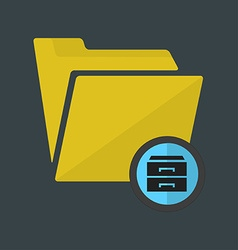 Folder web design icon vector