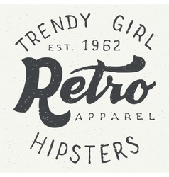 Retro apparel label typographic design vector