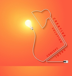 desk lamp shaped electric cord energy vector image