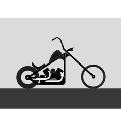 Motorcycle custom chopper vector