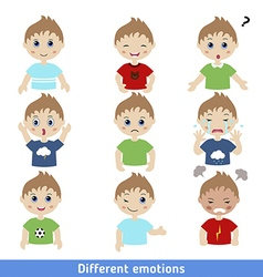 Boy faces vector