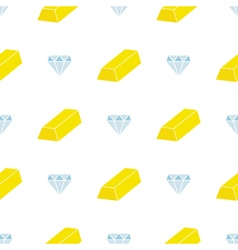 Seamless background with jewelry icons vector