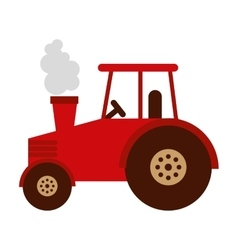 Tractor farm isolated icon design vector