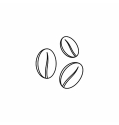 Coffee beans icon outline style vector