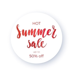 Summer sale concept calligraphy banner vector