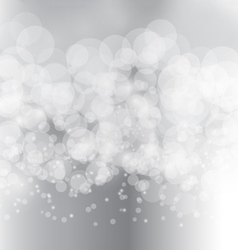 Abstract bokeh blur on grey silver background vector