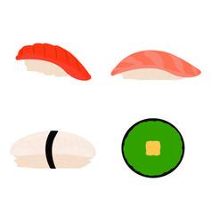 Abstract delicious sushi vector