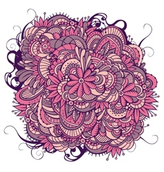 Abstract floral ornamental doodles background vector