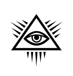 all-seeing eye eye of providence vector image vector image