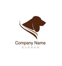 basset hound logo vector image vector image