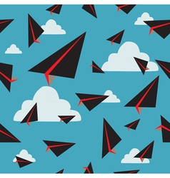 Black paper plane fly vector