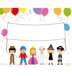 children disguised for a party vector image