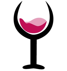 Drink and wine logo icon vector