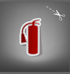 Fire extinguisher sign red icon with for vector