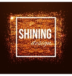 Glamour golden background with glitters and frame vector