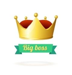 Golden Crown Concept vector image vector image